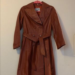 Vintage Nordstrom  leather trench